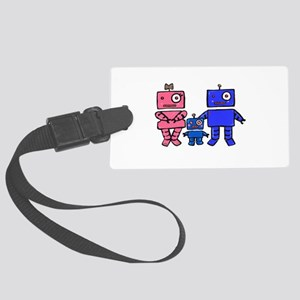 Robot Family Large Luggage Tag