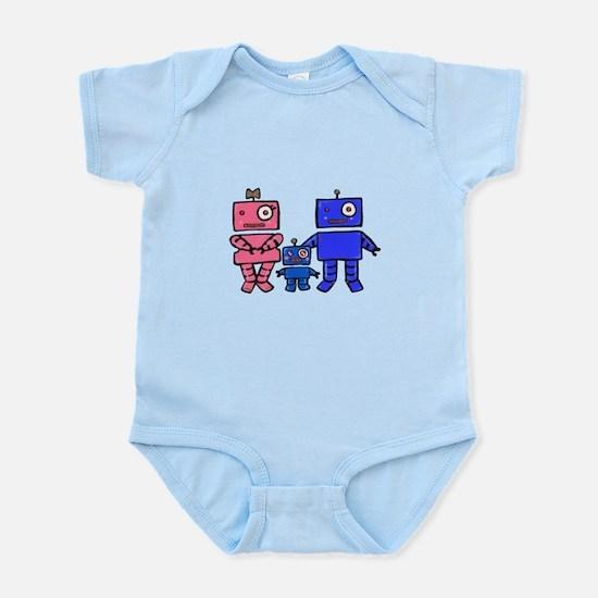 Robot Family Infant Bodysuit