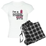 Never Give Up Multiple Myeloma Women's Light Pajam