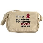 Never Give Up Multiple Myeloma Messenger Bag