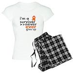 Never Give Up Leukemia Women's Light Pajamas