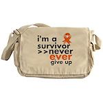 Never Give Up Leukemia Messenger Bag