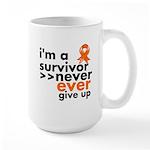 Never Give Up Leukemia Large Mug