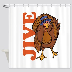 Jive Turkey Shower Curtain