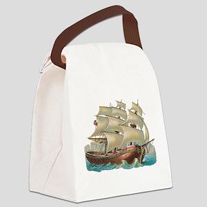 Tall Ship Canvas Lunch Bag