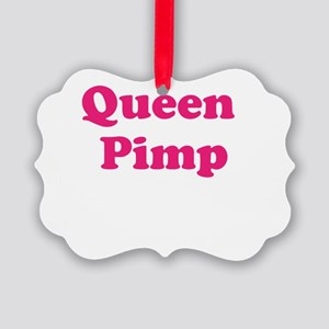 Queen Pimp Picture Ornament