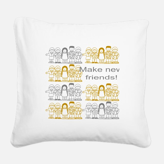 Scouting Buddies Square Canvas Pillow