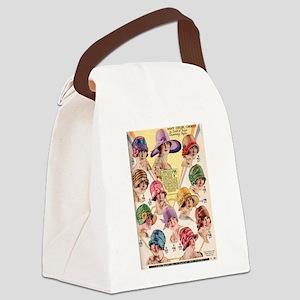 Flapper Hats Canvas Lunch Bag
