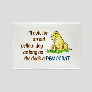 Yellow Dog, Original Rectangle Magnet
