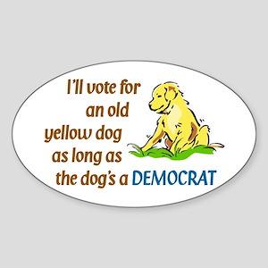 Yellow Dog, Original Oval Sticker