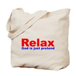 Relax - red white blue Tote Bag