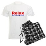 Relax - red white blue Men's Light Pajamas
