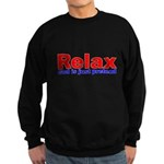 Relax - red white blue Sweatshirt (dark)
