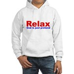 Relax - red white blue Hooded Sweatshirt