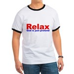 Relax - red white blue Ringer T