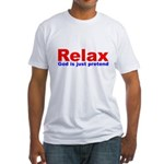 Relax - red white blue Fitted T-Shirt