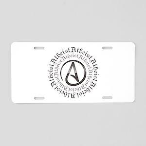 Atheist Circle Logo Aluminum License Plate