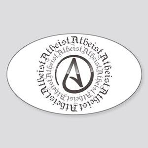 Atheist Circle Logo Sticker (Oval)