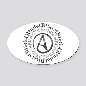 Atheist Circle Logo Oval Car Magnet