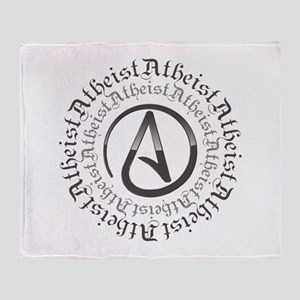 Atheist Circle Logo Throw Blanket