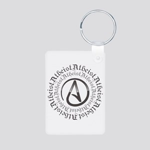 Atheist Circle Logo Aluminum Photo Keychain