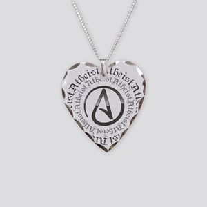Atheist Circle Logo Necklace Heart Charm