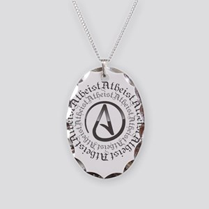 Atheist Circle Logo Necklace Oval Charm