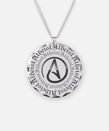 Atheist necklaces atheist dog tags necklace charmspendants atheist circle logo necklace aloadofball Gallery