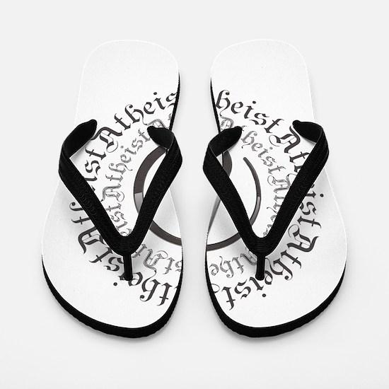 Atheist Circle Logo Flip Flops