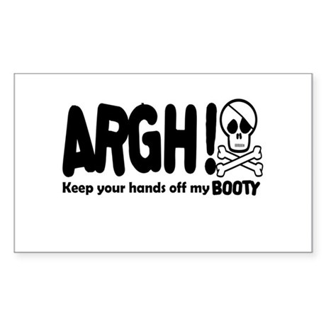 ARGH! pirate humor Sticker (Rectangle)