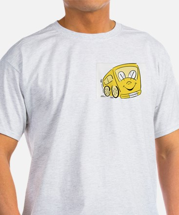 TEACHER'S YELLOW BUS Ash Grey T-Shirt