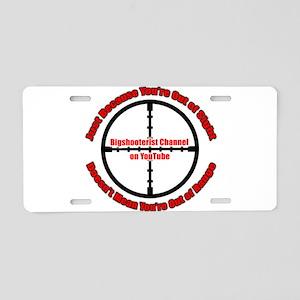 Bigshooterist Logo Aluminum License Plate