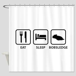 Eat Sleep Bobsledge Shower Curtain