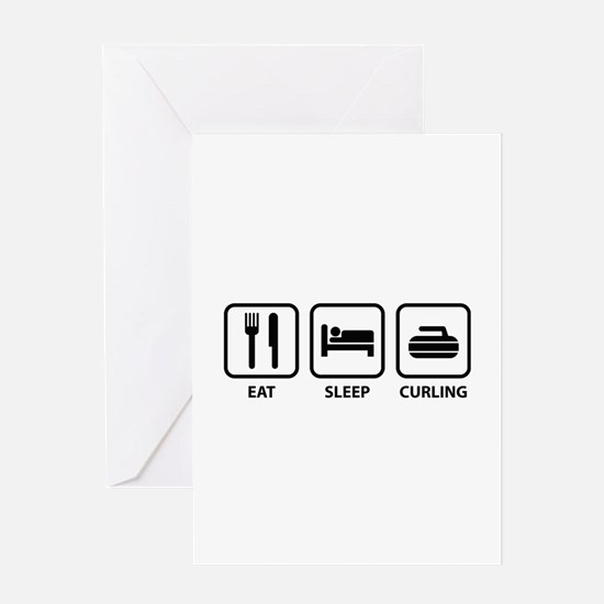 Eat Sleep Curling Greeting Card