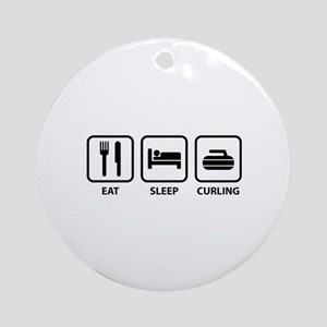 Eat Sleep Curling Ornament (Round)