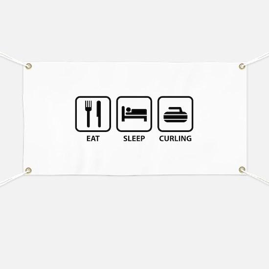 Eat Sleep Curling Banner