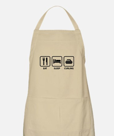 Eat Sleep Curling Apron