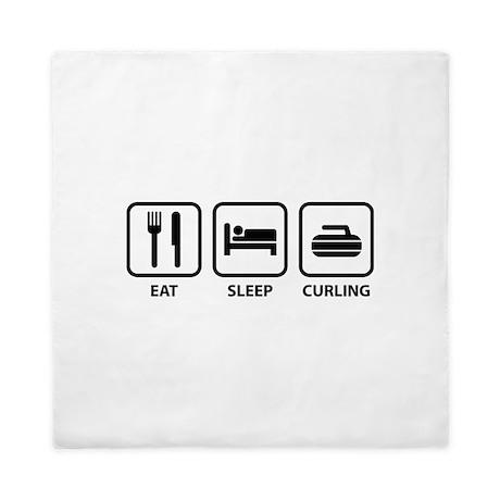Eat Sleep Curling Queen Duvet