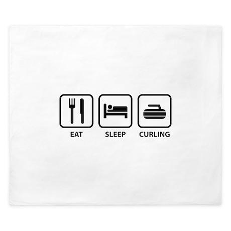 Eat Sleep Curling King Duvet