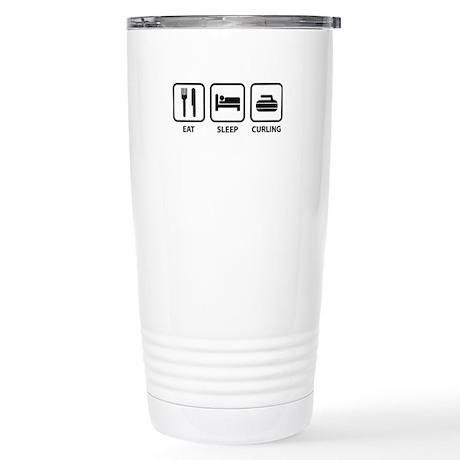 Eat Sleep Curling Stainless Steel Travel Mug