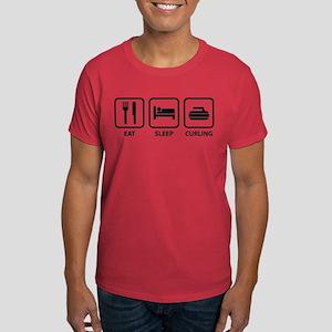 Eat Sleep Curling Dark T-Shirt