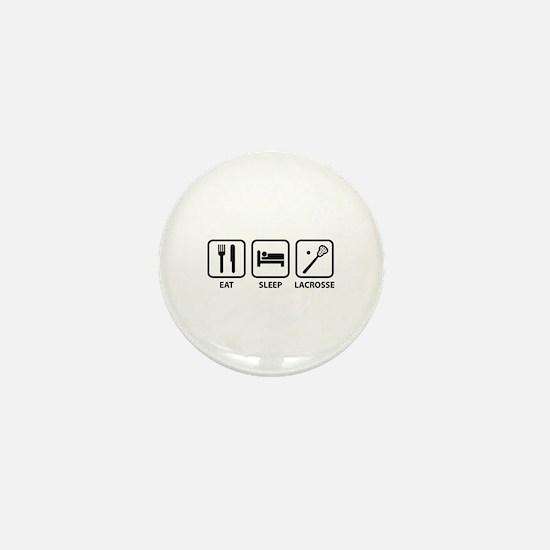 Eat Sleep Lacrosse Mini Button
