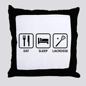 Eat Sleep Lacrosse Throw Pillow