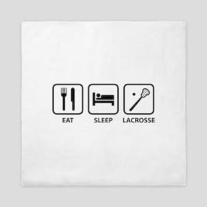 Eat Sleep Lacrosse Queen Duvet