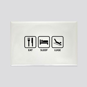 Eat Sleep Luge Rectangle Magnet