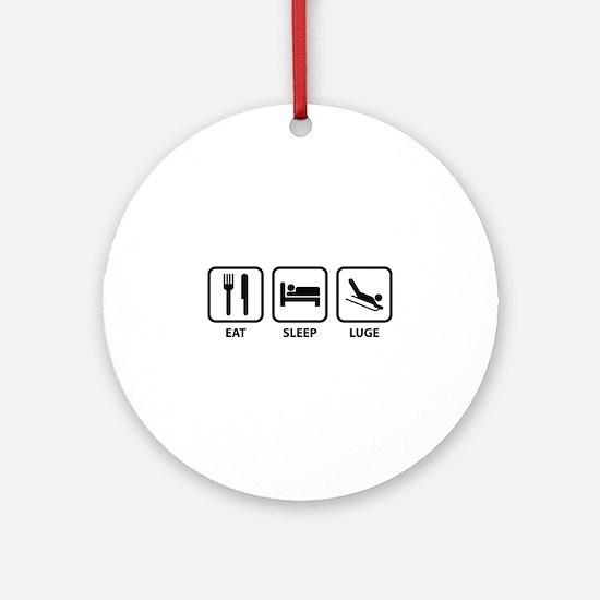 Eat Sleep Luge Ornament (Round)