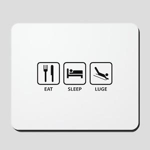 Eat Sleep Luge Mousepad