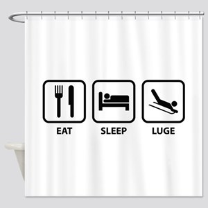 Eat Sleep Luge Shower Curtain