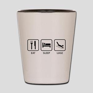 Eat Sleep Luge Shot Glass