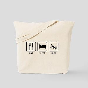 Eat Sleep Luge Tote Bag